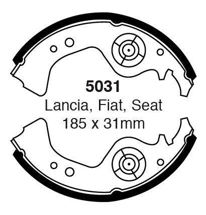Ebc Brake Shoes 5031 To Fit Fiat Panda Uno Regatta Strada And