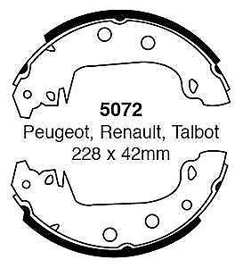 EBC-Brake-shoes-5072-To-Fit-Peugot-304-305-Renault-17-18-21-25-182932327171
