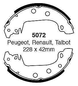 EBC-Brake-shoes-5072-To-Fit-Peugot-304-305-Renault-17-18-21-25-172953934473