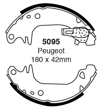 EBC-Brake-shoes-5095-To-Fit-Peugeot-205-Renault-5-182934197316